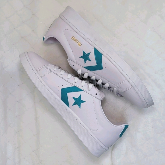 Converse  Pro Leather Ox (White / Harbor Teal / Wh